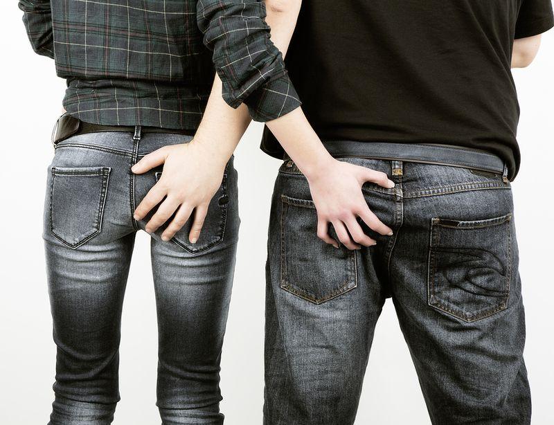 Man-woman-buttocks